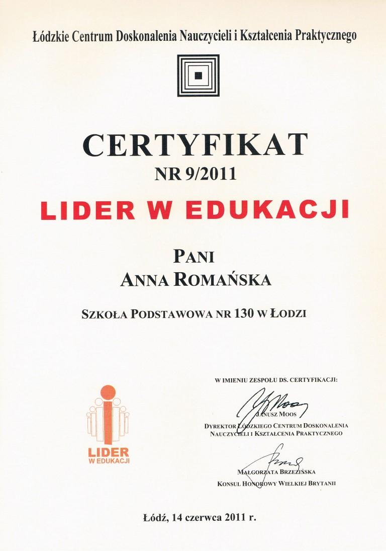lider w edukacji - ania