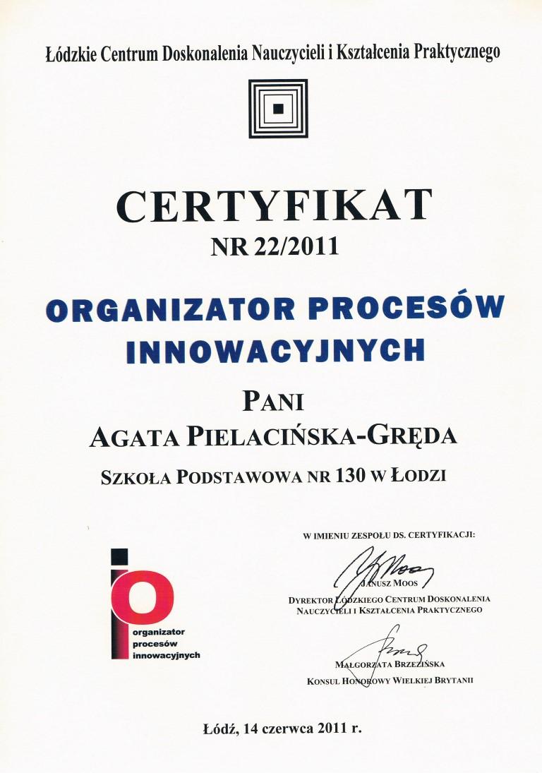 org. procesów - agata